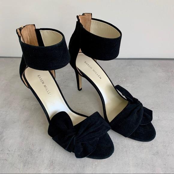 Karen Millen, black suede sandal